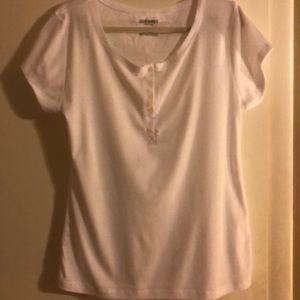 White Button Down T-Shirt